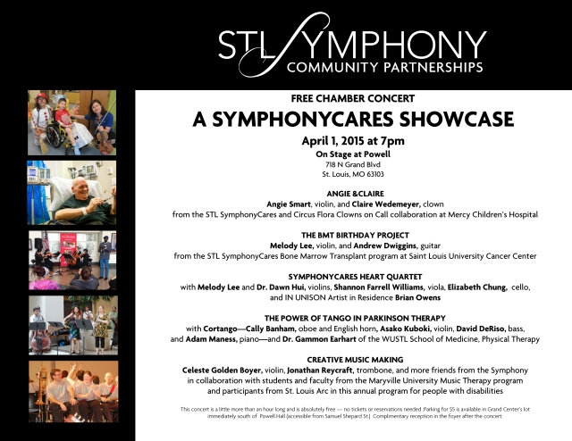 4-1-15 On Stage at Powell SymphonyCares Showcase